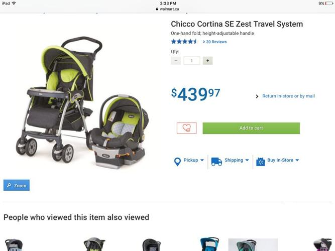 Chicco Stroller and car seat travel system