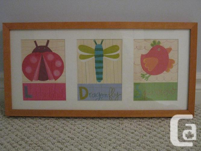 Children's Ladybug / Dragonfly / Sparrow Picture