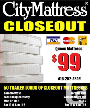 CITY MATTRESS Ⓡ CLOSEOUT. Delivery $10.