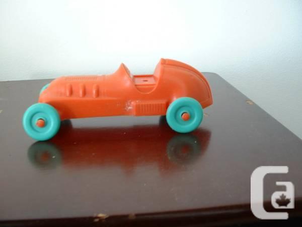 Classic Red Plastic Race-Car 1960's - $10