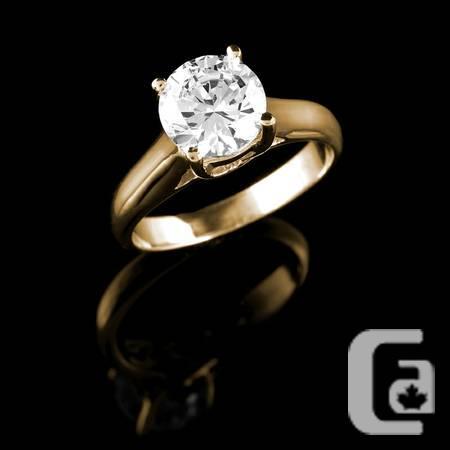 �clatante bague diamant 1 1/4 carat diamond gold