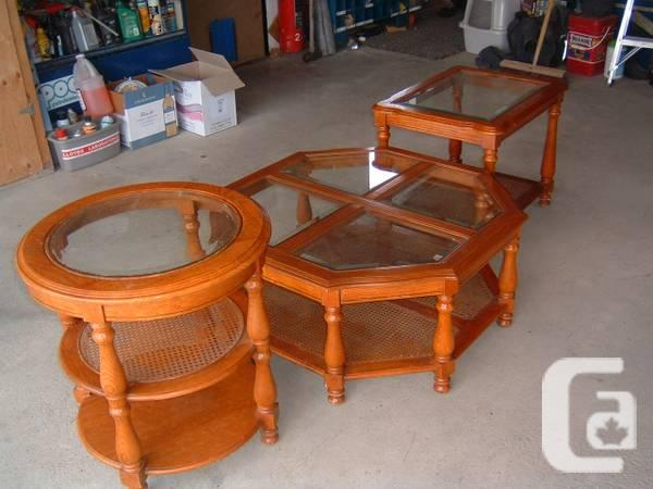 coffee table and 2 end tables - $75