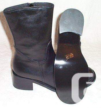 COLE Brief Black Leather Shoes - 7.5, 6 7