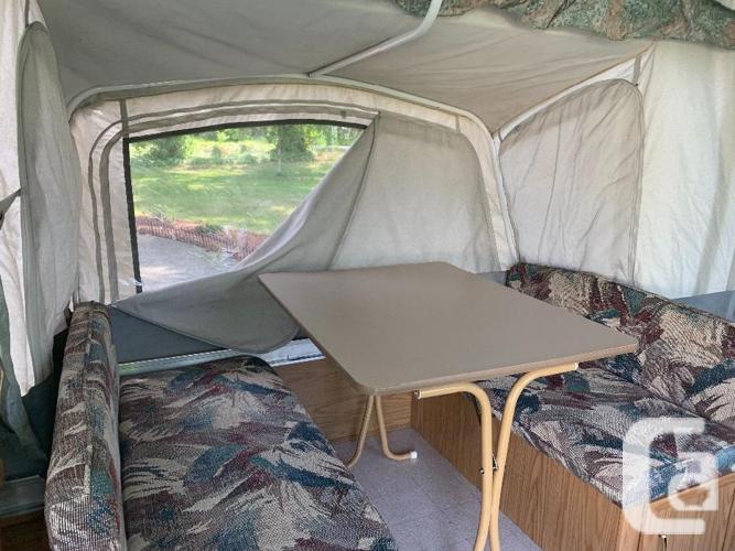 coleman pop up tent trailer