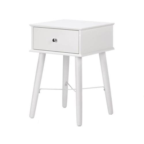 Contemporary Modern Chic White Lacquered Accent End