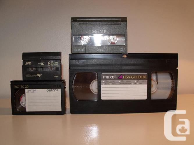 Convert your home video tapes to DVD or a digital