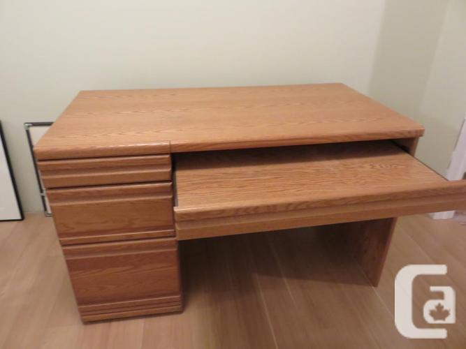corner desk and book shelf unit