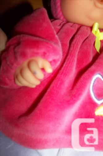 Corolle Babi Babipouce doll Pink velvet , Soft, plush