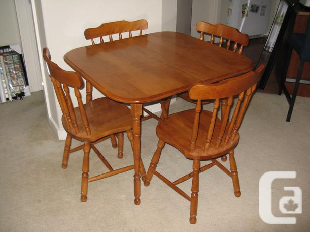 country kitchen style 5 piece dining room set 4 chairs for sale in