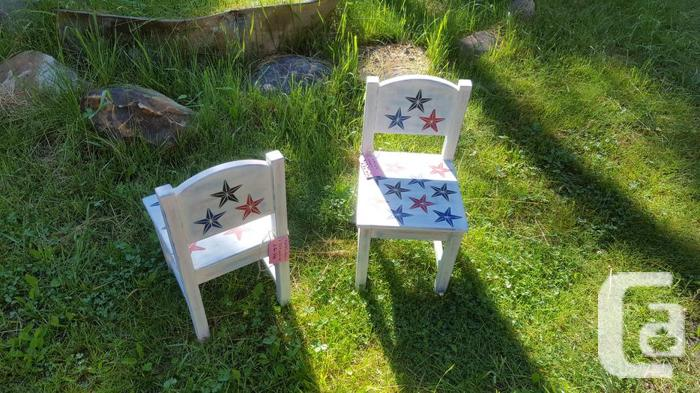 Custom painted chairs