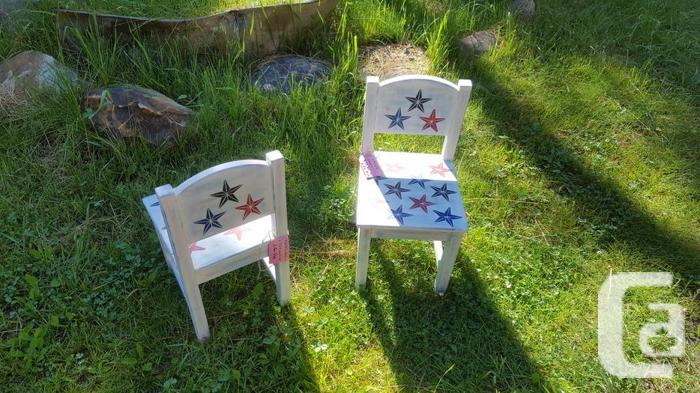 Custom painted chairs