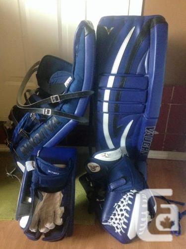 Custom Vaughn V5 7800 Pro Goalie Pads, Blocker and Catcher in Sooke,  British Columbia for sale