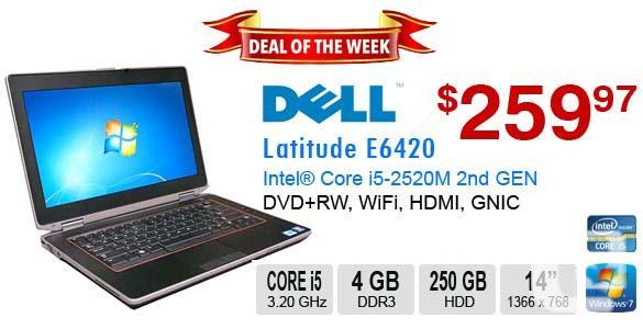 Deal Of The Week DELL Latitude E6420 Core I5 2520M 4GB