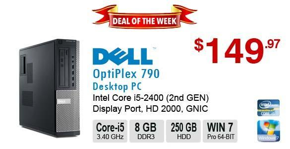 ►►Deal of the Week DELL OptiPlex 790 Corei5-2400 3.4GHz