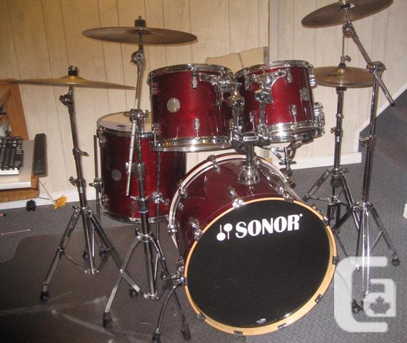 ##### DECREASED ##### SONOR 3005 COMPLETE MAPLE DRUMKIT