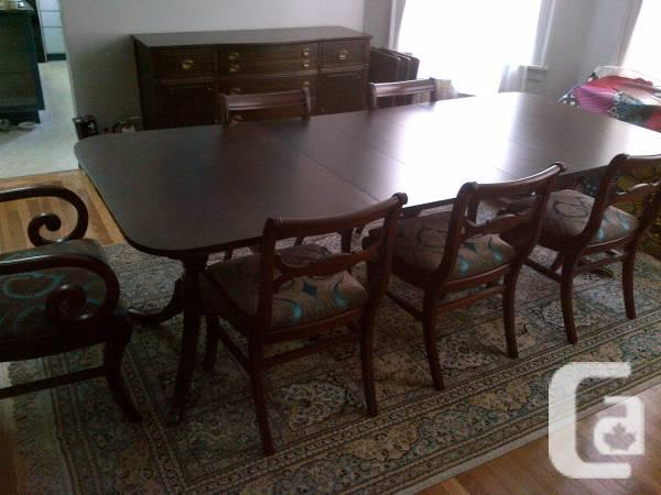 Dining area collection (mahogany desk, seats,