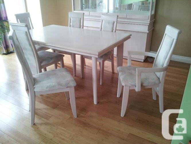 dining room set china cabinet and table with 6 chairs for sale in