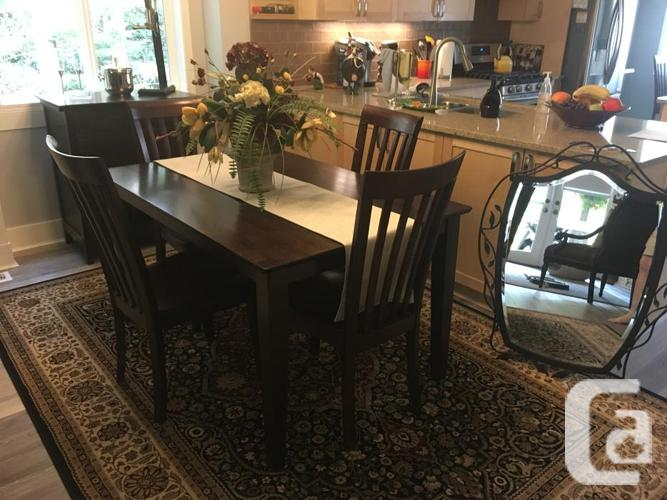 Dining room table 6 chairs server and mirror for sale for Dining room tables victoria bc