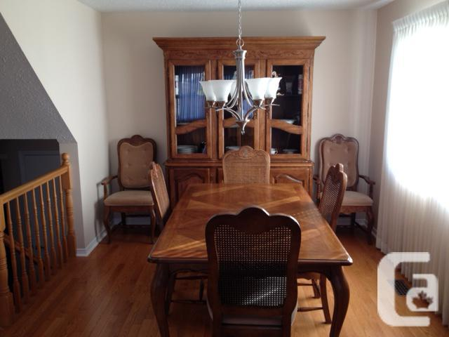 Dining Room Table, Hutch and Buffet
