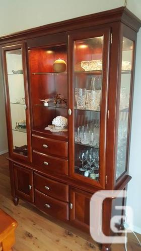 Dining Room Table With Matching Glass Hutch For Sale In Victoria