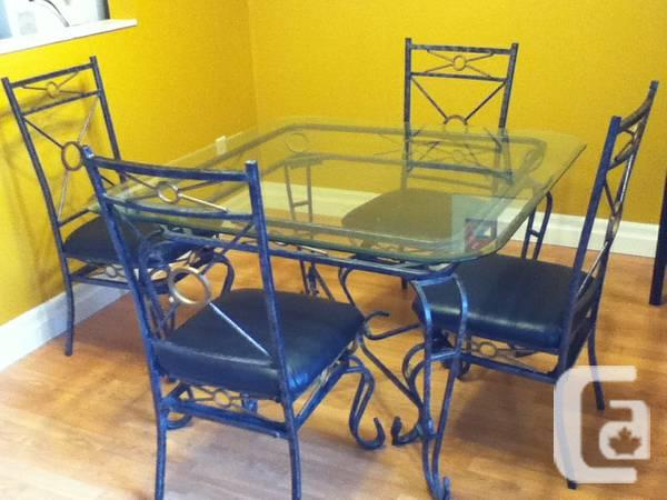 Dining Set with amp & Glass-Top legs - $300