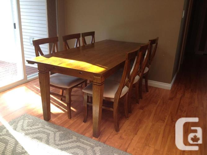 Dining Table Leaf 6 Chairs And Hutch From Urban Barn For Sale In