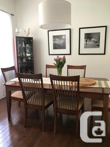 Dining Table with 6 Chairs and China Cabinet