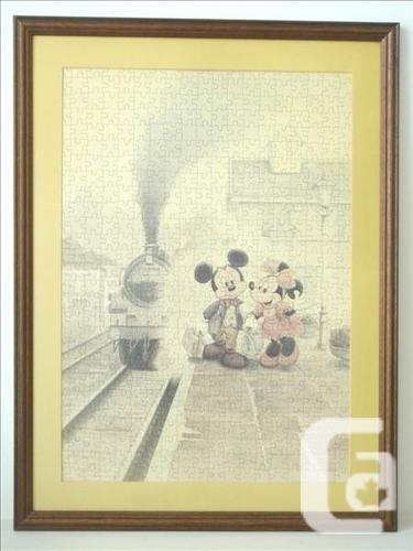 Disney Mickey & Minnie Mouse Framed Jigsaw Puzzle Art
