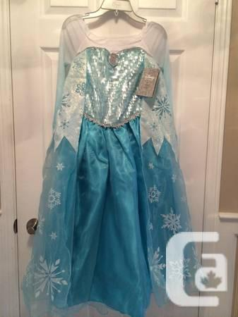 Disney Store Frozen Elsa Costume Dress 5/6 Or 9/10 With