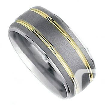 Dome Brushed with Two Gold Stripes - TR11101 - $26
