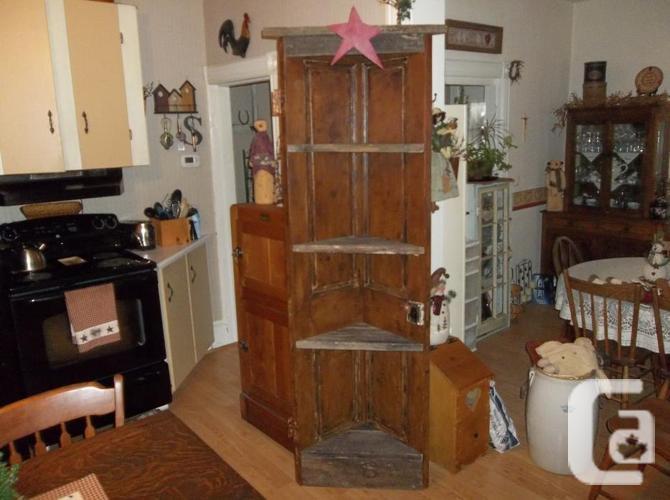 Doorway corner cupboards that are previous
