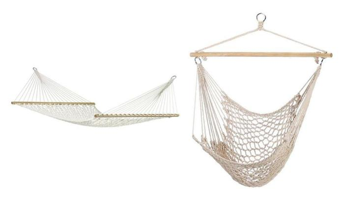 Double 2 Person Rope Hammock Amp Swing Chair 2pc Mixed Lot