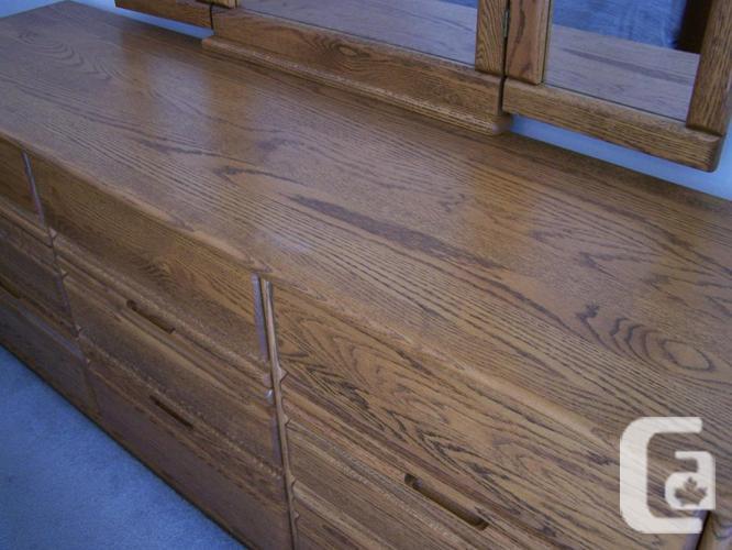 Dresser w/Mirror - Solid Oak