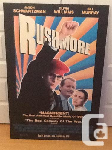 Dried-Installed Wes Anderson Rushmore Poster (1998)