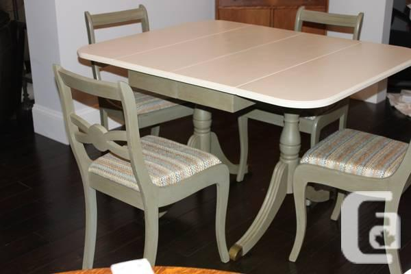 Duncan Phyfe Style Table & Four Chairs - $650