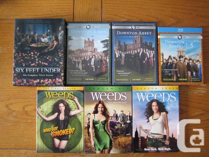 DVD seasons - Weeds, Treme, Slings & Arrows, Six Feet