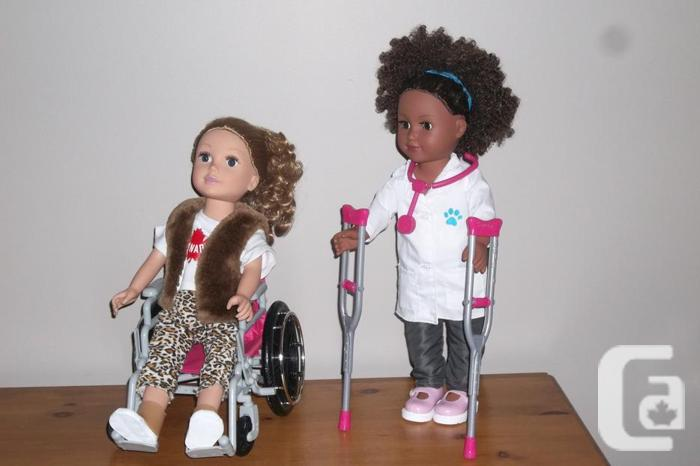 "each! African American 18"" Doll + blonde doll ,"