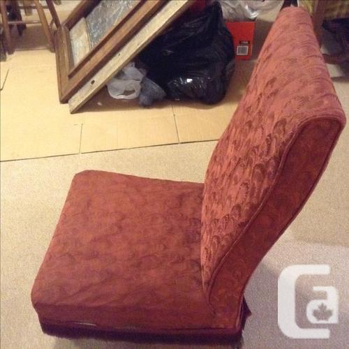 Edwardian fireside chair with custom cover