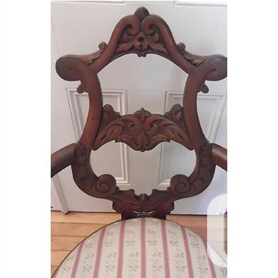 Edwardian Mahogany Open Back Salon Chair