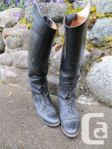 Effingham riding boots, chaps, jacket and shirt