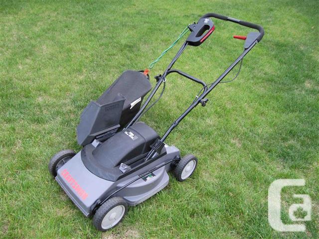 Electric Lawnmower c/w Bag