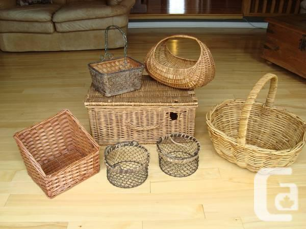 Entire Range Of Container, Wicker containers