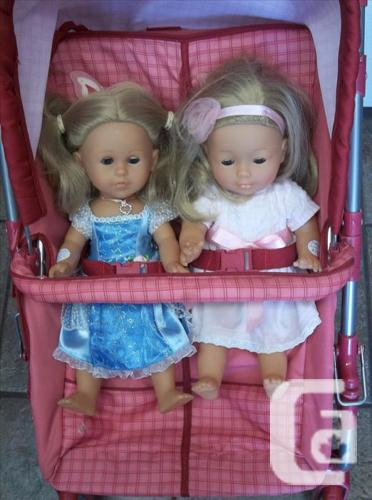 Esprit double doll stroller - pink Dolls not included!