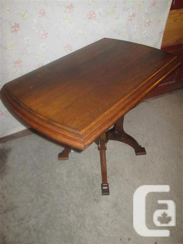 ESTATE 1920'S ALL WOOD END TABLE