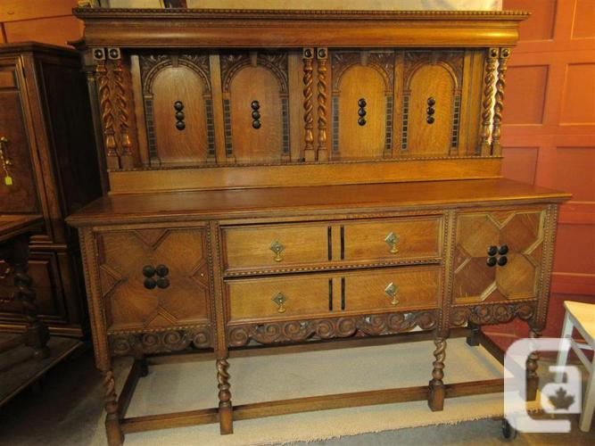 ESTATE EARLY 1900 ENGLISH BUFFET FROM GLASCOW