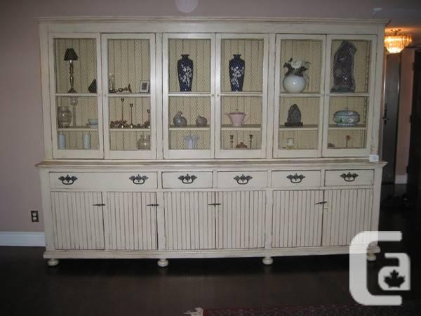 Estate sale! Exquisite Antique Beige big armoire