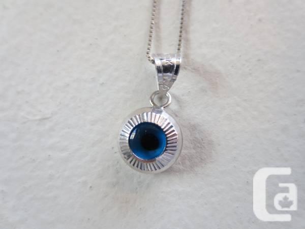 Evil-Eye safety necklace + string, New, 10k - $99