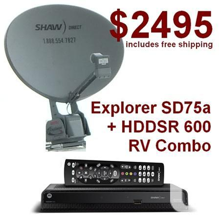 Explorer SD-75a Shaw Direct RV Satellite Dish + HDDSR