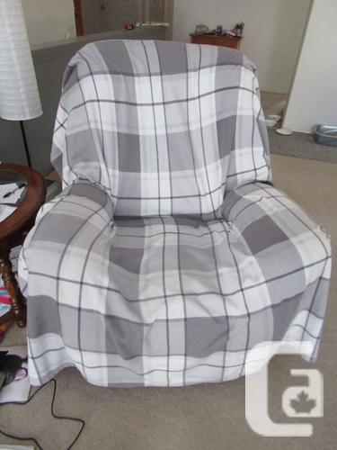 Fabric ROCKER/RECLINER chair- 2 available- less than 8
