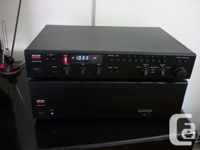 FANTASTIC AUDIOPHILE *ADCOM GFA 545 AMP & PRE/TUNER